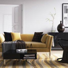жълт диван
