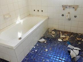 къртене на баня