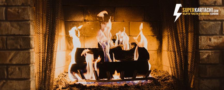 запалена камина