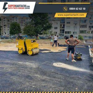 асфалтиране на големи площи