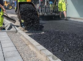 асфалтиране на тротоар