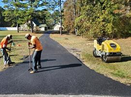 асфалтиране на алеи