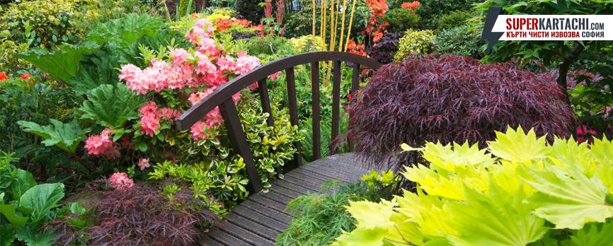 декоративен градински мост