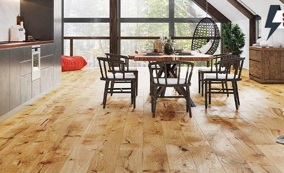 дървен паркет за хола
